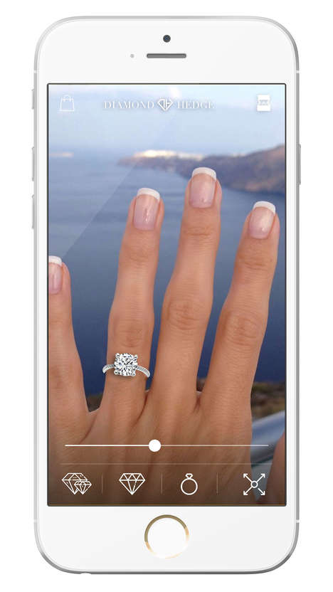 AR Engagement Ring Apps - Diamond Hedge's Jewelry Try-On App Previews Rings in Augmented Reality
