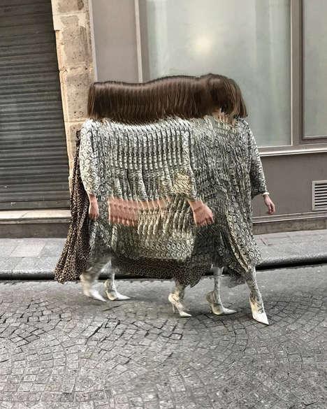 Glitchy Luxury Fashion Campaigns