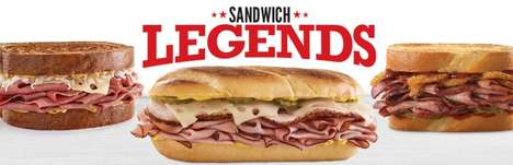 City Inspired Sandwich Menus - The Arby's Sandwich Legend Menu is Delicious and Meaty