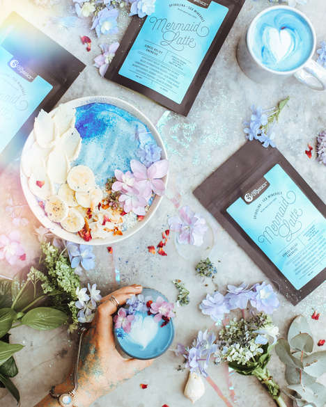 Blue Mermaid Lattes - Nutra Organic' Mermaid Latte Mix is Healthy and Instagram Worthy