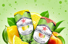 Sparkling Organic Teas - This Sparkling Tea Drink is a New SanPellegrino Product Concept