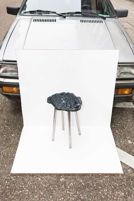 Plastic Scrap Stools - The 'Scrap Life Project' Prominently Features Repurposed Plastic Waste