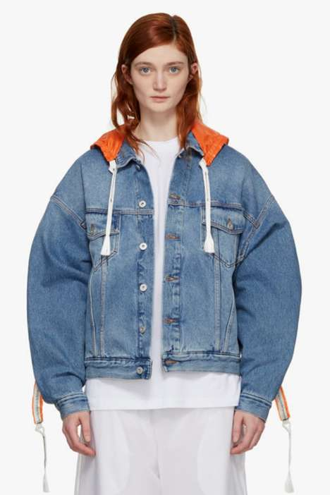Parachute-Inspired Jackets - This Oversized Denim Coat is a Part of the New Heron Preston Line