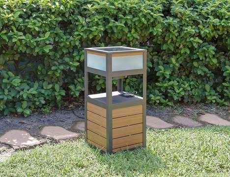 Solar-Powered Speaker Furniture - The Portico Solar Sound Pro Table Plays Music and Charges Devices