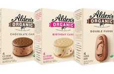 Frozen Organic Artisan Desserts - The New Alden's Organic Ice Cream Treats are Premium and Tasty