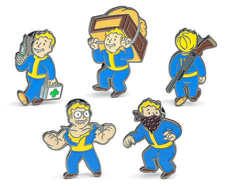 Enamel Video Game Pins - These 'Fallout' Pins Feature Vault Boy from the Game's Perk Chart