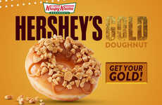 Olympic Medal-Inspired Donuts - Krispy Kreme's New Hershey's Gold Doughnut Celebrates the Olympics