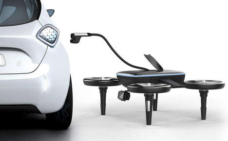 On-Demand Drone Vehicle Chargers