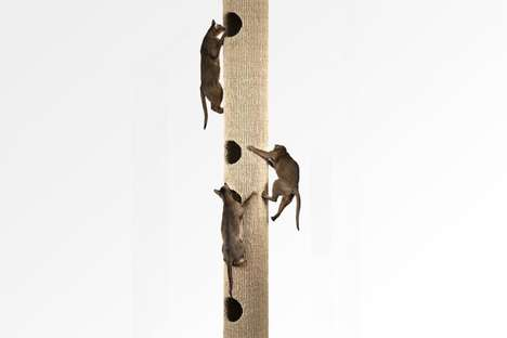 Modular Customization Cat Trees - The Hicat 'Catapilla' Offers a Spot for Felines to Climb Indoors