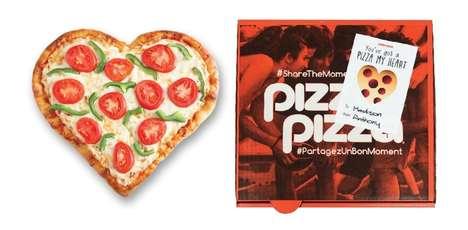 Personalized Valentine's Pizzas