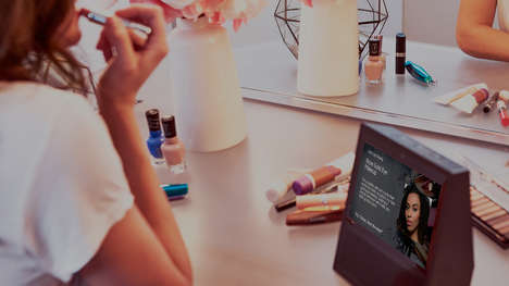 Virtual Assistant Beauty Tutorials - Coty's 'Let's Get Ready' for Amazon Echo Offers Dynamic Visuals