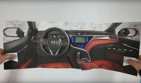 Heart-Monitoring Magazine Inserts - Toyota's Multi-Sensory Print Ad is Promoting Its 2018 Camry