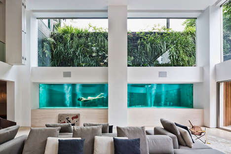 Indoor Apartment Swimming Pools - Fernanda Marques Incorporated a Whole Pool in an Existing Duplex