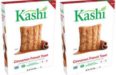 French Recipe-Inspired Cereals - The Kashi Cinnamon French Toast Cereal is Infused with Maple Syrup