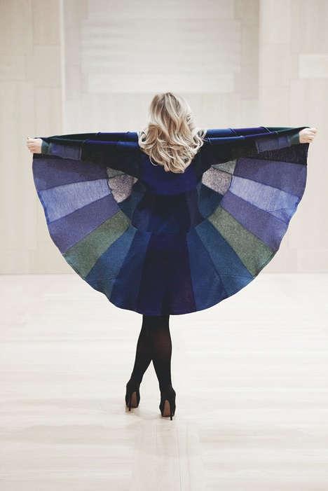 Circular Wool Spring Coats