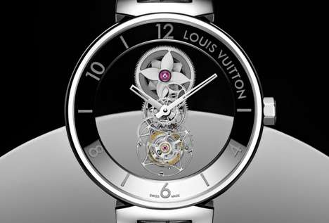 Luxury Tourbillon Timepieces - Louis Vuitton's Tambour Moon Mysterious is Elevating Its Watches