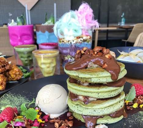 Artisan Matcha Pancakes - Matcha Mylkbar's 'Matcha Made in Heaven Pancakes' are Superfood-Infused