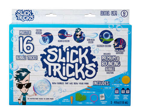 Bubble-Blowing Trick Kits - 'Slick Tricks' Teaches 16 Stunts That Can Be Done with Bubbles