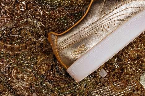 Celebratory Golden Sneakers