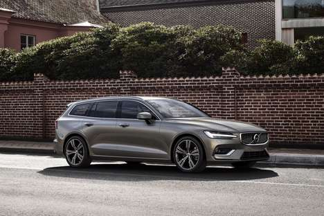 Semi-Autonomous Wagon Vehicles - The 2019 Volvo V60 Can be Purchased Under the Car by Volvo Plan
