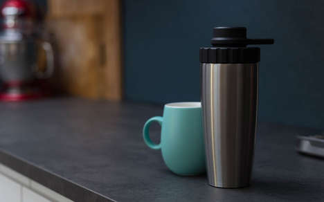 Pressurized Portable Coffee Makers - The 'SteepShot' is Simple with Just Two Components