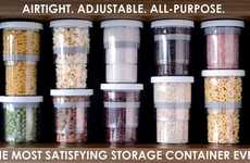 Telescoping Food Containers - The '1/2 Smart Storage System' Guarantees an Airtight Fit