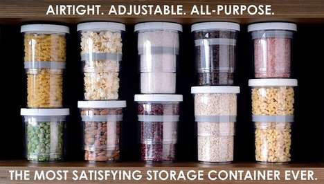 Telescoping Food Containers