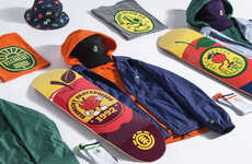 Fruity Streetwear Collections - Skate Brand Element Launches Spring/Summer 2018 with Citrus Motifs
