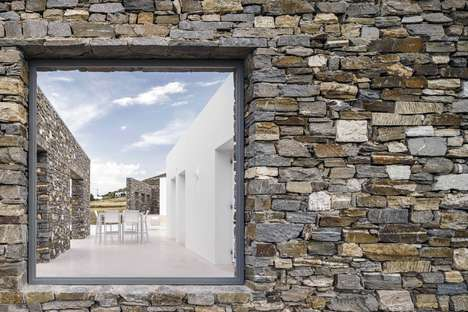 Masonry Seaside Resorts - React Architects Build a Peaceful Three-Layered Getaway in Greece