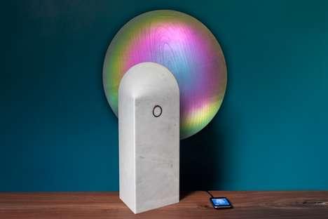 Pearlescent Display Speakers