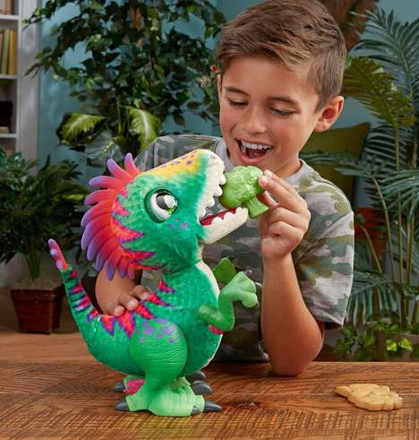 Hungry Dinosaur Toys - Hasbro's FurReal Munchin' Rex Eats Plastic Broccoli and Cookie Toys