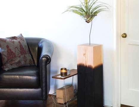Reclaimed Material Planter Pedestals