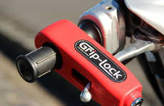 Vehicular Handlebar Security Locks - The 'Grip-Lock' Ensures Your Scooter or Motorcycle is Secure