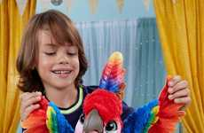 Comical Parrot Toys - Hasbro's 'Rock-a-too the Show Bird' Sings, Dances, Jokes and Imitates
