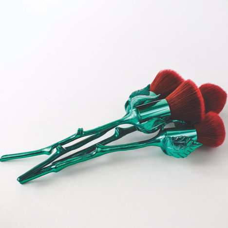 Rose-Shaped Makeup Brushes