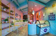 Vibrant Frozen Yogurt Shops