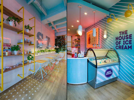 The House of Ice Cream's Design Blends Retro with Contemporary Designs