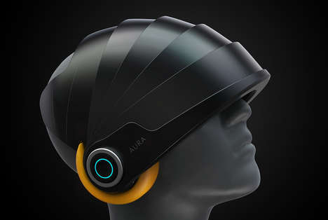 Relaxing Jet Lag-Curing Helmets - The 'AURA' Enhances Peace and Serenity for Avid Travelers