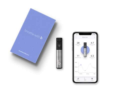 Stress-Lowering Breathing Devices - The 'Breathe with b' System Helps You Manage Feelings and Focus