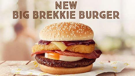 Supersized Breakfast Burgers