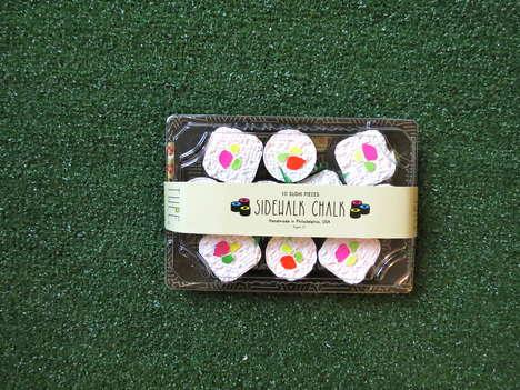 Sushi-Themed Chalk Sets