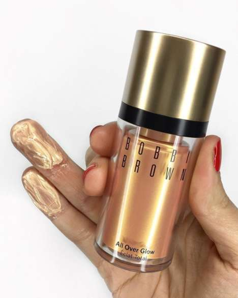 Liquid Gold Highlighters - Bobbi Brown's 'All Over Glow' is Made with Squalane to Increase Hydration