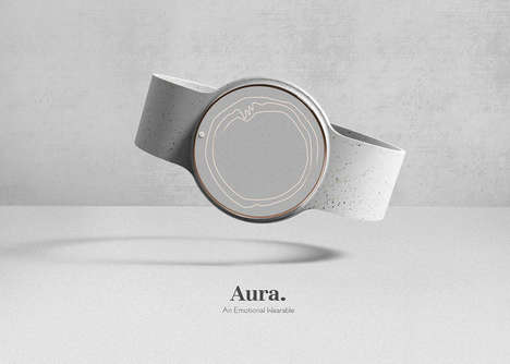 Mental State-Tracking Wearables - The Conceptual 'AURA' Wearable Detects for Emotional Issues