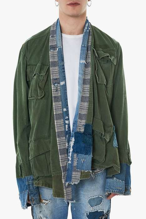 Distressed Military-Inspired Jackets