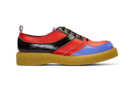 Color-Blocked PVC Dress Shoes