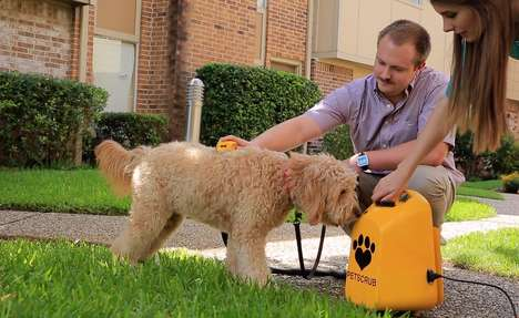 Deep-Cleansing Pet Bathers - The 'PetScrub' Removes Debris and Freshens a Dog's Fur