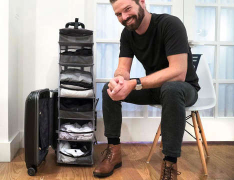 Expanding Closet-Carrying Luggage