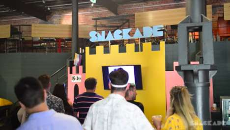 "Snack-Dispensing Arcade Machines - SNACKADE Offers a ""Playable Food Delivery"" Experience"