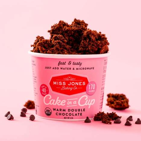 Microwaveable Dessert Cups - Miss Jones Baking Co. Launched a Vibrant 'Dessert in a Cup' Range