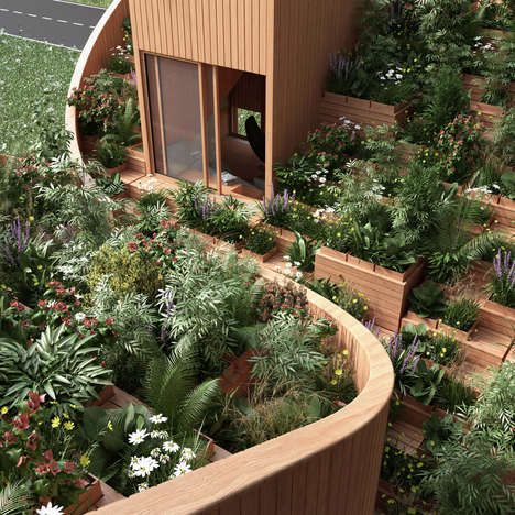Roof Garden Building Designs - Penda Conceptualizes a Self-Sufficient Home in Kassel, Germany